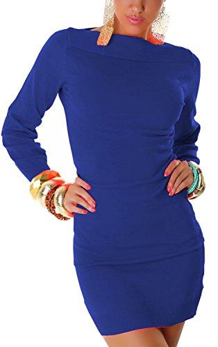 JELA London - Vestido - Básico - Manga Larga - para mujer Azul
