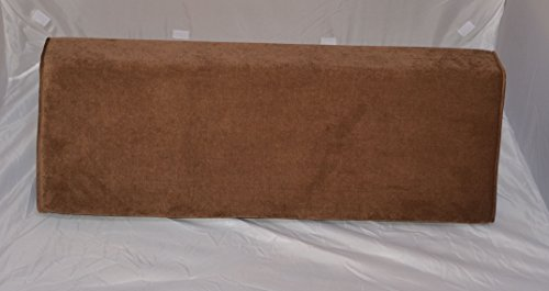Flexible Wedge Bolster with Cover (Antique Velvet-Chocolate)