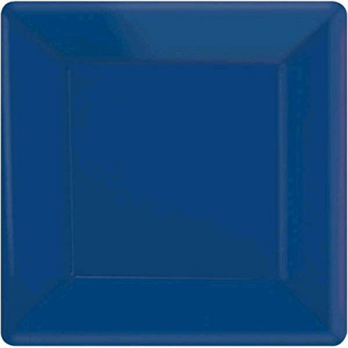 Bright Royal Blue Square Paper Plates | 7