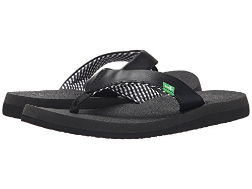Sanuk Women's Yoga Mat Flip-Flop (8 B(M) US, Black Ebony)