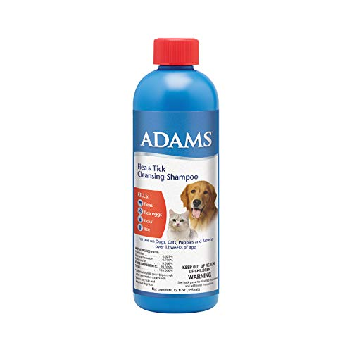 Adams Flea and Tick Cleansing Shampoo, 12-Ounce (The Best Flea Shampoo For Dogs)