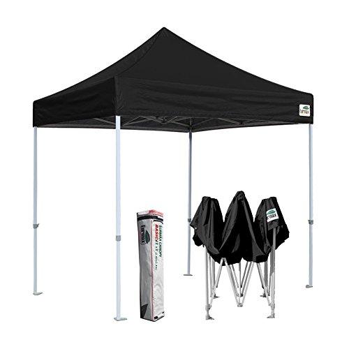 Eurmax Basic 8x8 Pop up Canopy, Party Instant Tent, Commercial Gazebo Bonus Carry Bag (Black)