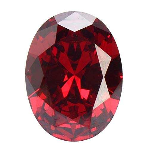 Dalab 12x16mm 13.89ct Luxury Blood Red Ruby Unheated Diamond Oval Cut Loose Gems Clothing Jewelry Necklaces Ring DIY Art Accessories - (Color: ()