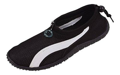 New Starbay Brand - Calzado Deportivo Acuático, Negro, Para Hombres, Agua, Con Rayas Blancas, Negro