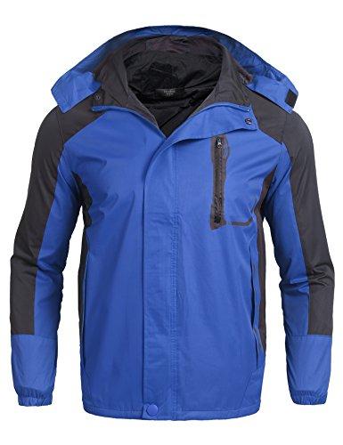 Zuckerfan Unisex Men's Outdoor Windbreaker Hooded Coat Softshell Camping Hiking Mountaineer Travel Jackets(Blue,M) by Zuckerfan