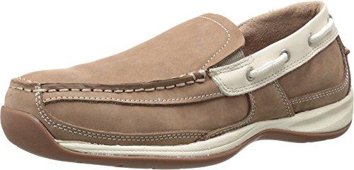 Rockport Work Women's Sailing Club RK673 Work Shoe, Tan/Cream, 7.5 M US (Electrostatic Toe Dissipative Slip)