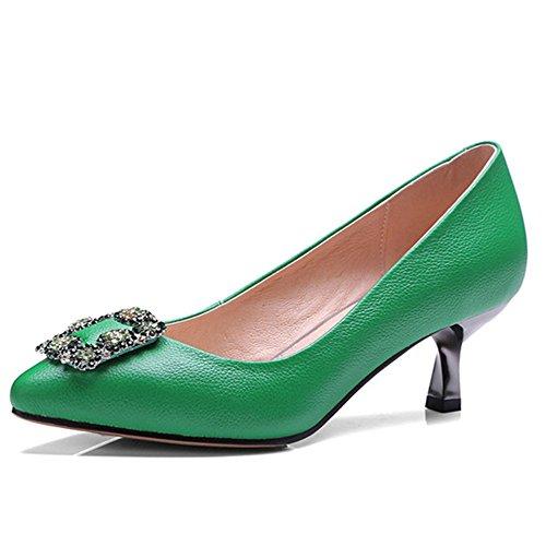 Nine SevenHeels - Sandalias con cuña mujer Verde