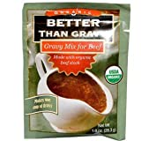 Better Than Gravy, Organic Gravy Mix for Beef, 1.0 Oz., (6-pack)