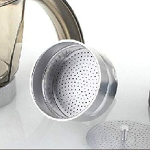 KNOSSOS da 3 a 6 Tazze Caffettiera elettrica Moka Percolatori Cartuccia Filtro Filtro Spina Europea, Argento