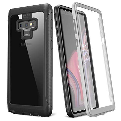 Samsung Galaxy Note 9 Case, Justcool Full Body Built-in Screen Protector Heavy Duty Clear Protection Slim Fit Shockproof Rugged Cover for Galaxy Note 9 (2018 Release)