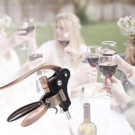 LINMAN Botella de Botella de Vino de Acero Inoxidable de Acero Inoxidable Conejo Vino sacacorchos Botella de Vino Removedor de Corcho Adecuado para Todo Tipo de Botellas de Vino Sacacorchos