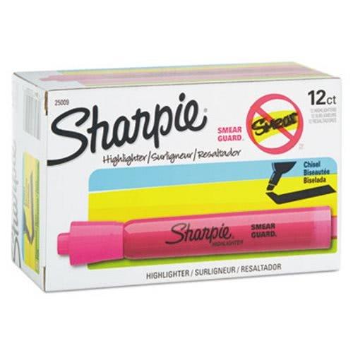 Sharpie 25009 Accent Tank Style Highlighter Chisel Tip Pink Dozen