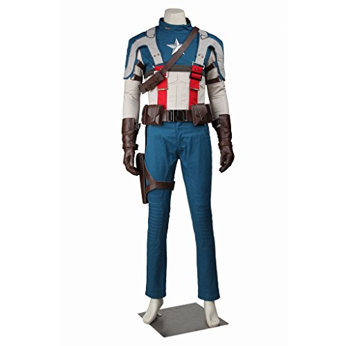 CosplayDiy Men's Costume Suit for Captain America The First Avenger Cosplay CM (Custom Made Captain America Costume)