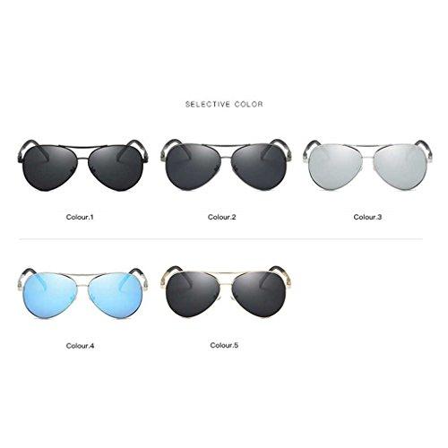 Sol de de de Vendimia Coolsir de Bloqueador Conducción la Gafas Solar polarizada 4 Lentes de Las Sol Providethebest piloto Protección UV Gafas Lente Gafas AIqxP