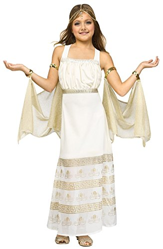 Fun World Girls Golden Goddess Costume, Gold, Large 12-14]()