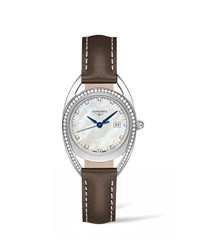 Longines Equestrian Collection - L6.137.0.87.2 - Mother of Pearl Diamond Dial Diam Bezel Quartz Women's