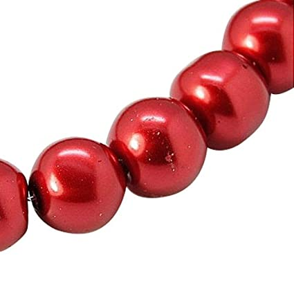 81ded9c5e153 Pandahall£¬1 Cadena,Abalorios redondos de perla de vidrio para hacer ...