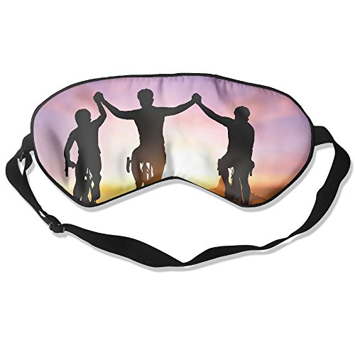 ZhiqianDF Silhouette Bicycle On Sunset And Friendship In Bicycle Sport And Triathlon Sport Goggles Sleep Shading Breathable Cute Eyes Relieve Eye - Triathlon Costume