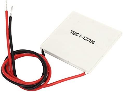 sourcing map TEC1-12706 12V 6A 40x40mm refrigerador termoeléctrico ...