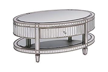 My Furniture Table Basse En Miroir De Verre Trempé