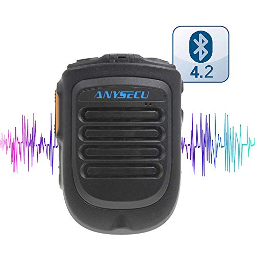(2018 New Launch Bluetooth Version 4.2 Microphone B01 for W7 W7plus T-320 Radio Work with Real PTT/Zello PTT Wireless Handheld Microphone)