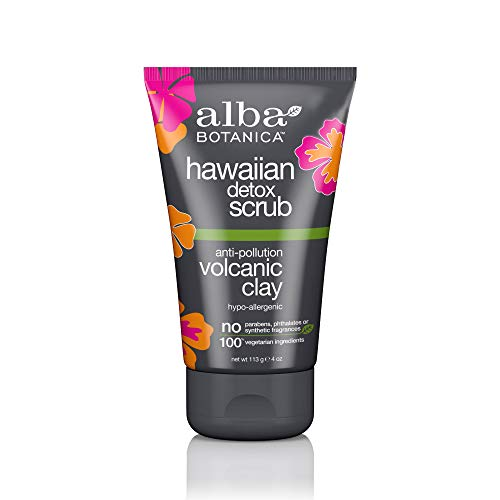 Alba Botanica Anti-Pollution Volcanic Clay Hawaiian Detox Scrub, 4 oz.