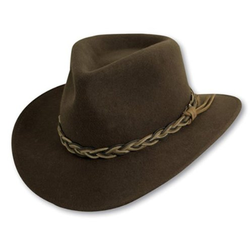 UPC 016698309677, Scala Classico Men's Crush Felt Outback With Waxed Cord Hat,Green,XL