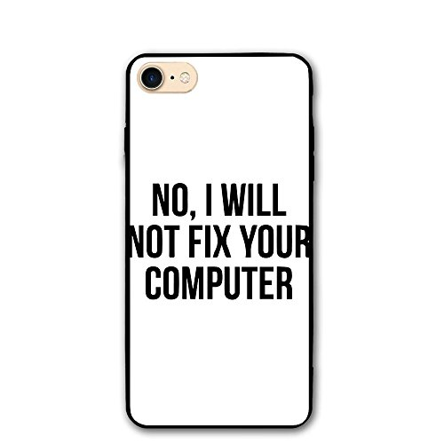 Richard No I Will Not Fix Your Computer IPhone 8 Case 4.7 Enhanced Grip Premium Scratch Resistant Protective Cases Hard PC Back Cover For IPhone - Can On Scratches You Fix Eyeglasses