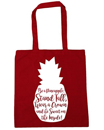 Stand A 42cm and Tote Crown x38cm HippoWarehouse Pineapple Beach Sweet 10 Tall Bag Be a Be Wear litres Classic Shopping Inside Gym The Red On 5q6xtqfnH8