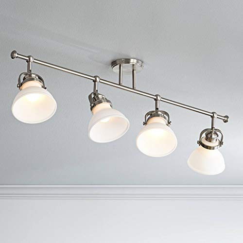 Luca 4-Light Satin Nickel Opal White Shades Track Fixture - Pro Track by Pro Track (Image #5)