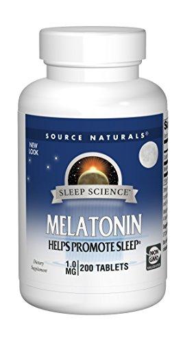 Source Naturals Sleep Science Melatonin 1mg - Safe, Non Habit - 200 Tablets