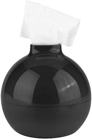 Contenedor de Caja de Pañuelos Porta Papel Redondo Estante Forma de Bomba Ambiental No Tóxico Dispensador de Colores Creativo para Sala de Baño(Black): Amazon.es: Hogar
