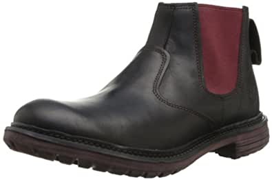 Timberland Men's Tremont Chelsea Boot,Black/Red,12 M US
