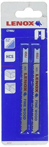 Tpi Wood U-shank 10 4 - Lenox Tools 20757CT450J U-Shank High Carbon Steel Fine Wood Cutting Jig Saw Blade, 4-Inch x 5/16-Inch x 10 TPI, 2-Pack