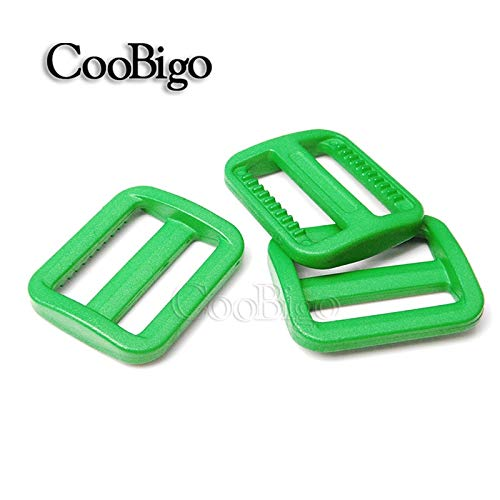 1000pcs Pick Color 1 25mm plastic Tri-glides Slider Adjustable Buckle Backpack Webbing Moll Tactical Bag Parts