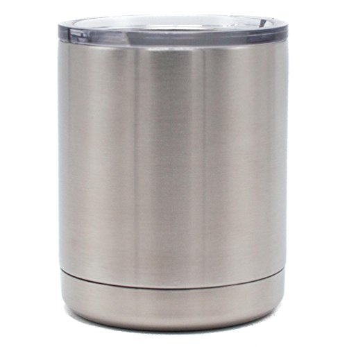 12 oz TANK - Stainless Steel Lowball - Vacuum Insulated Cup With Lid