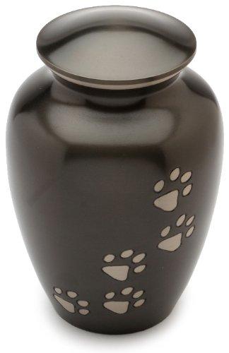 Urns UK Matlock Gedenkurne für Haustiere, Zinnoptik, 20,3cm, Schwarz