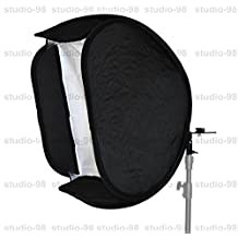 Studio-98 20 x 20 inch (50 x 50 cm) Foldable Softbox Light Modifier for Off-Camera Flash Nikon Speedlight, Canon Speedlite, for SB-600, SB-800, SB-900, 380EX, 430EX, 550EX, 580EX, Vivita Flash, Nissin, Sigma, Sony, Pentax, Olympus, Yongnuo Flash