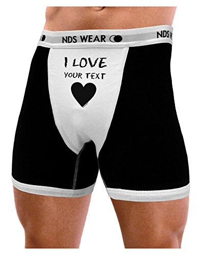 (NDS Wear TooLoud Personalized I Love Customized Mens Boxer Brief Underwear - XL)