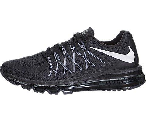 super popular 71f7e 9b879 Nike Air Max 2015 (GS) Boys Running Shoes 705457-002 Black White 6