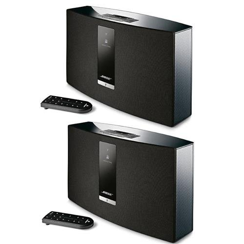 Bose 2x SoundTouch 20 Series III Wireless Music System with Remote Control, Black by Bose