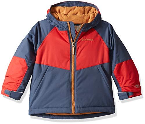 Columbia Toddler Boy's Alpine Action Ii Jacket, 4T, Dark Mountain/Red Spark