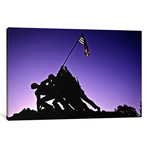 iCanvasART 3-Piece World War II Iwo Jima Memorial Canvas Print by Unknown Artist
