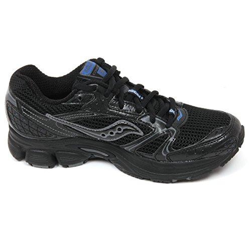 Saucony Grid Cohesion 5, Diseño de Zapatillas de Running Para Mujer negro / azul claro