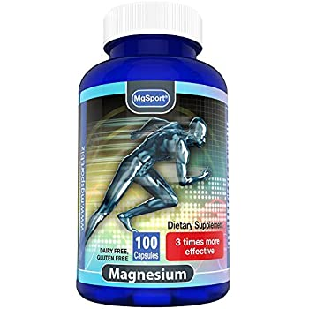 High Absorption Magnesium for Leg Cramps and Sore Muscles, Restless Leg Syndrome Relief (RLS), with Vitamin B6, D and E, 380mg Magnesium Oxide Monohydrate, ...