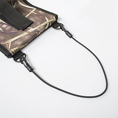 Lusmi Seat Back Gun Sling Rack for Car Truck with Holding 2 Guns Pocket for Hunting and Shooting Black