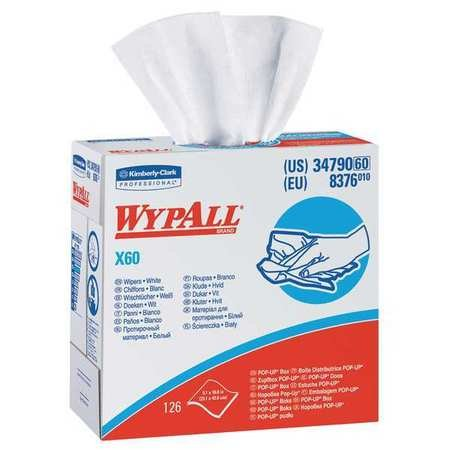 Disposable Wipes, 9-1/10'' x 16-4/5'', 126 Sheets/Pack