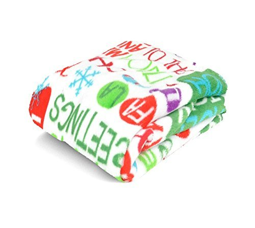 Christmas Holiday Time Plush Throw  Typography