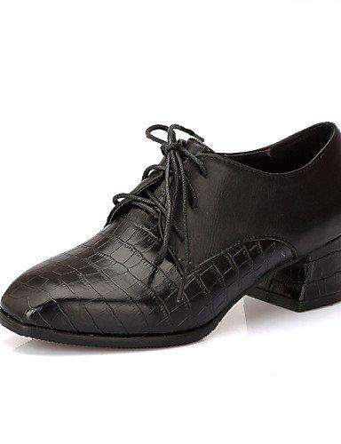ZQ gyht Zapatos de mujer-Tacón Plano-Punta Redonda-Planos-Exterior / Oficina y Trabajo / Casual / Deporte / Fiesta y Noche / Laboral-Sintético- , black-us6 / eu36 / uk4 / cn36 , black-us6 / eu36 / uk4 white-us9.5-10 / eu41 / uk7.5-8 / cn42