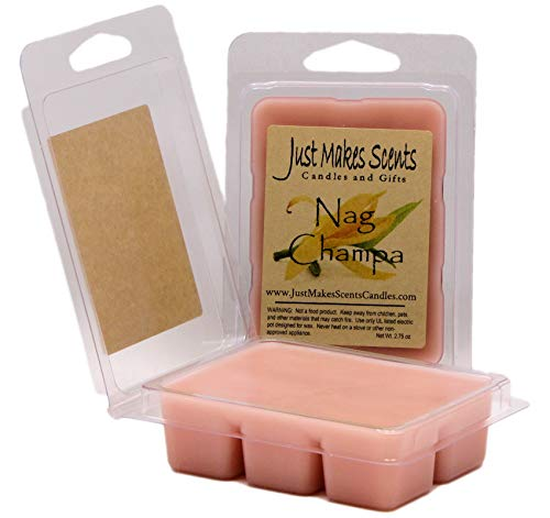 Just Makes Scents 2 Pack - Nag Champa Scented Soy Wax Melts   Fragrance Wax Cubes   Made in The USA